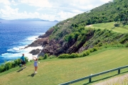 <h5>Par for the Course</h5><p>Golf at the world famous Mahogany Run, a championship 18 hole, Fazio designed course with its most challenging holes on cliffs overlooking the sea.</p>