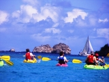 <h5>Kayaking St. John</h5><p>This guided kayaking tour takes you around the north shore of the Island in and around the bays and beaches in the National Park.</p>