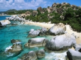 """<h5>A British Virgin Islands Experience</h5><p>Aboard a 55' custom power boat, guests are taken to famous """"Baths"""" on Virgin Gorda, Marina Cay, and Jost Van Dyke for an experience of a lifetime.</p>"""